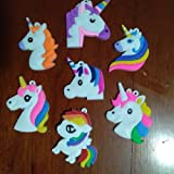 kitchen 67 phone number HATCHMATIC Fashion Unicorn Rainbow Horse Children PVC Flatback DIY Pins Badges Gadgets Fit Wristbands Charms Hair Accessories Phone Case: Mixed Colors