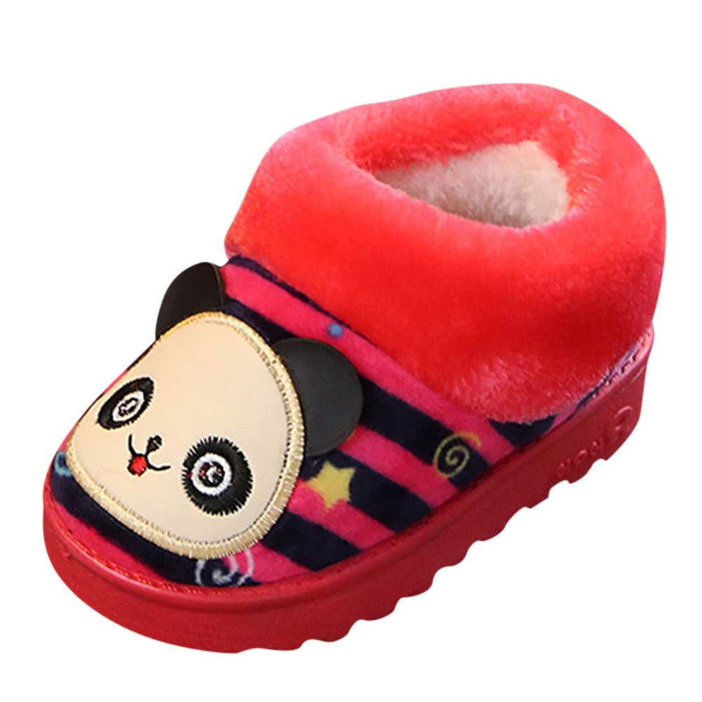 Lucoo baby boots,Children Baby Girls Winter Warm Cartoon Striped Indoors Outdoors Slipper Home Boots Shoes