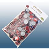 Home Brew - Balliihoo® Pack Of 250 Crown Bottle Caps - Red