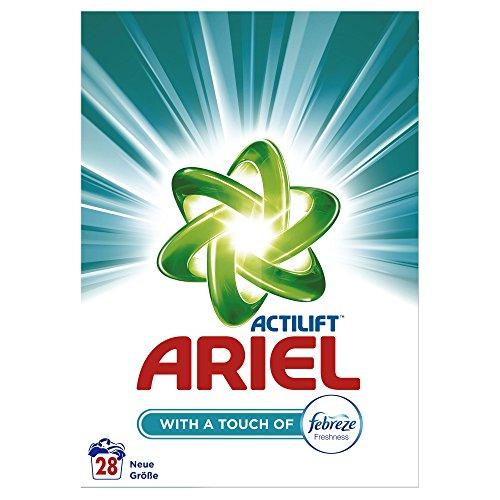 Ariel Waschpulver mit Febreze, 1,82kg, 4er Pack (4 x 28 Waschladungen)