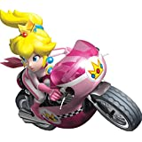 7 Inch Princess Peach Super Mario Kart Wii Bros Brothers Removable Wall Decal Sticker Art Nintendo 64 SNES Home Kids Room Decor Decoration - 7 by 6 inches
