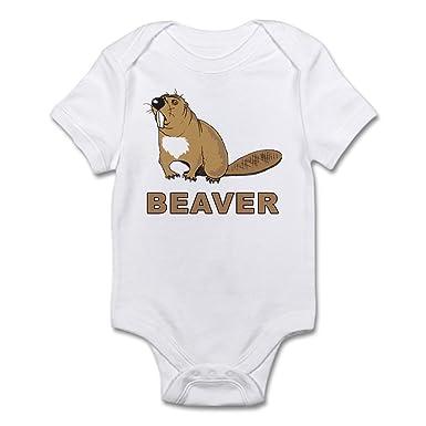 b344470ecbfb Amazon.com  CafePress Beaver Infant Bodysuit Baby Bodysuit  Clothing