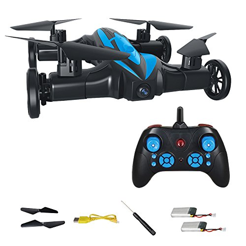 Helicopter Remote Flying (MASALING RC Quadcopter Drone Flying Car - Remote Control Helicopter Drone Toys for Kids with 3D Flip Headless Mode One-Key Return BONUS Battery Included)