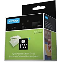 LABEL, DYMO White 2-UP, 1-1/8x3 1/2 Electronic Computer