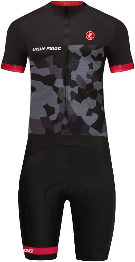 Uglyfrog 07 Designs国コードシリーズメンズショートトライアスロンスーツ/Trisuit Cycling Skinsuits Speedsuit圧縮可能な通気性&クイック乾燥のバイキングWear