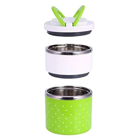 f49796606083 ZJchao Stainless Steel Thermal Insulated Bento Lunch Box,1-3 Layers  Leakproof Food Containers for Kids, Adult - Keep Food Warm - Fit for  School, ...