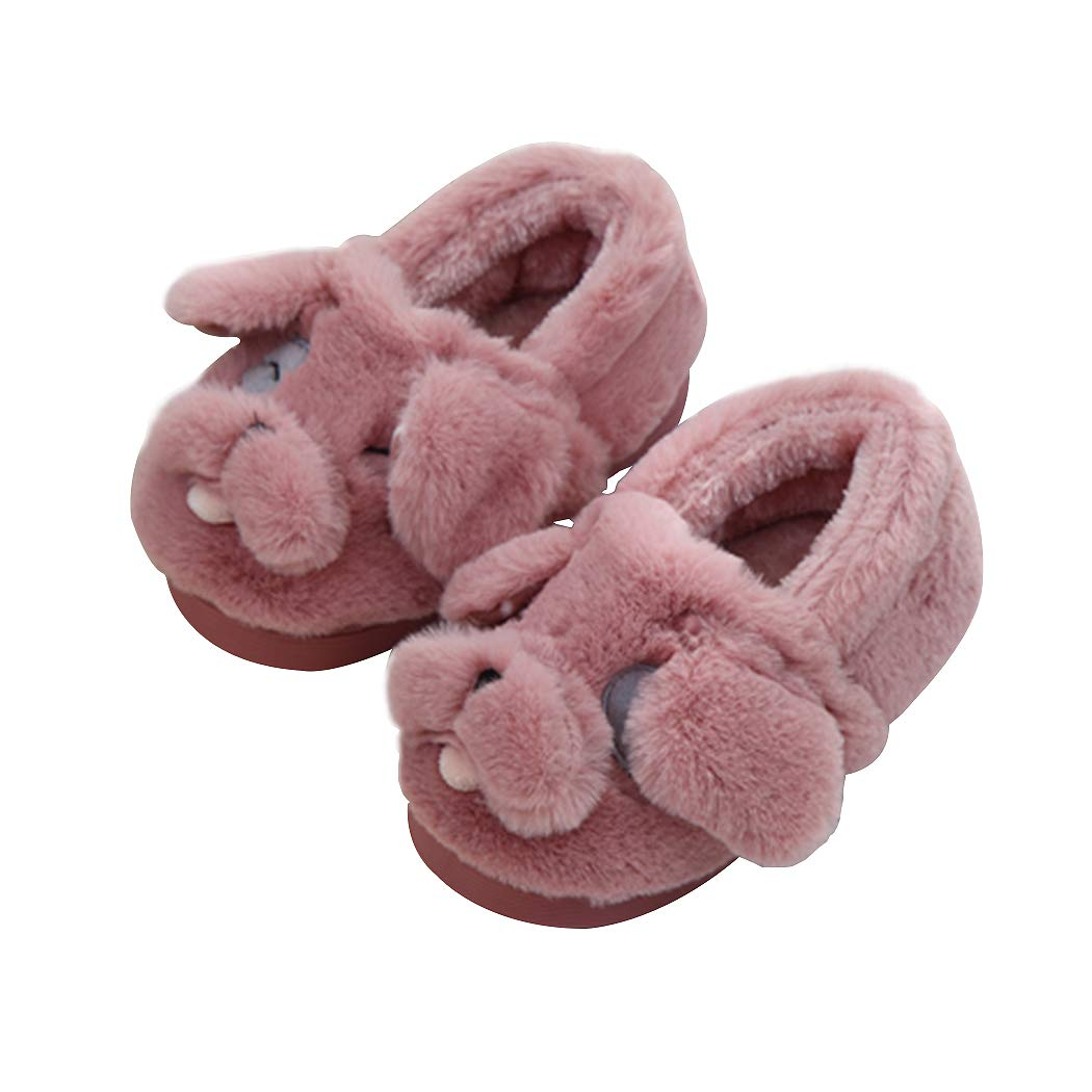 Unisex Cute Doggy Toddler Kids Slippers for Girls Boys Rubber Pink (14/15) 5M-6.5M Todder