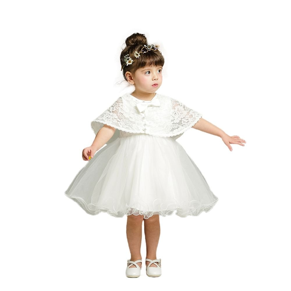 YOUAREFACNY Baby 2 Pcs Newborn Princess Dress Gown Girl Wedding Pageant Party Outfit
