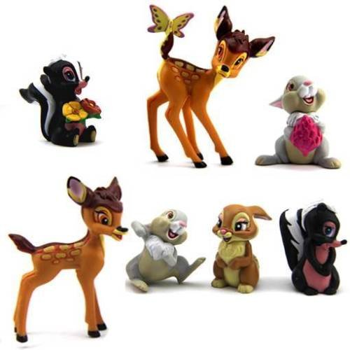 [7 Disney Bambi Thumper Flower Bambi Figure Children Girls Xmas Gift N205] (Flower Zombie Costumes For Girls)