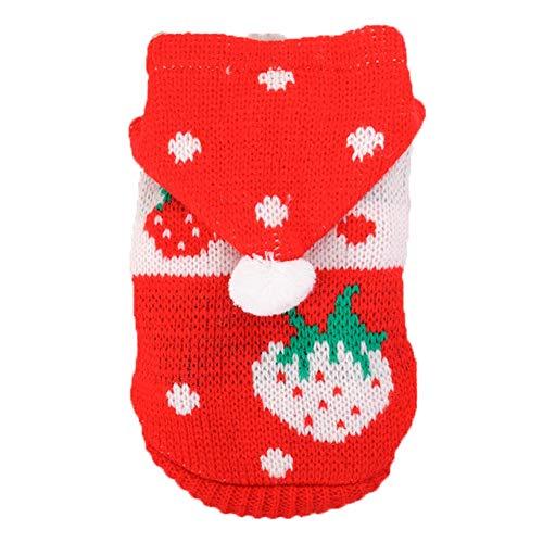DENTRUN Mini Sweater Dog Cat Vest Coat Winter Cold Weather Jacket Sweater,Pet Cats Jeans Cool Christmas Denim Shirt, Pet Costume Clothing Pajamas Hoodie Warm Vest -