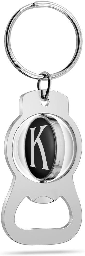 Multicolor Epic Products Monogram K Keychain Bottle Opener