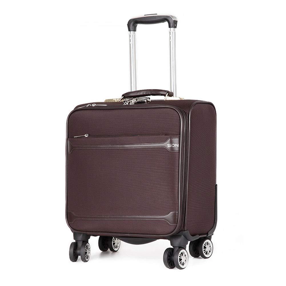 ユニセックススーツケース、新しい軽量ロックスーツケース、ミニユニバーサルホイールオックスフォード布スーツケース、ビジネスバケーション B07TCWCLKJ brown