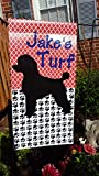 Personalized Poodle Flag, family last name