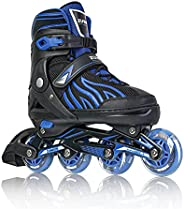 Zuwaos Womens Adjustable Inline Skates for Kids and Adults, Roller Skates with Featuring All Illuminating Whee