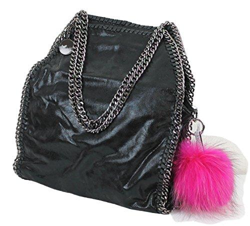 Rosa Borsa Pelle Con Pink In Effetto Vivien Da Anhänger colors Mit Grigio Nero Limited Jeans Donna Catena Schwarz 8HSUUx