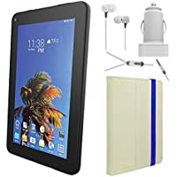 SLIDE 7 Android Tablet with Tablet Cover Accessory Bundle - White