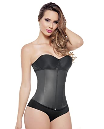 d35a15482d Fajas Colombianas Ann Michell Invisible Latex Waist Trainer with Invisible  Flat Front Zipper at Amazon Women s Clothing store