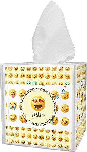 RNK Shops Emojis Tissue Box Cover (Personalized) from RNK Shops