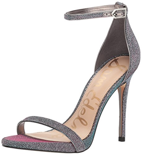 Sam Edelman Women's Ariella Heeled Sandal, Pink/Blue Multi Glitz, 7.5 M US