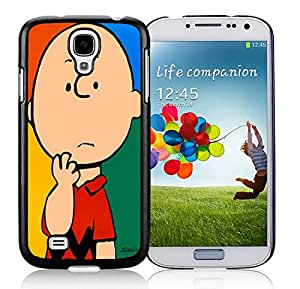 Fashionable DIY Custom Designed Charlie Brown Cover Case For Samsung Galaxy S4 I9500 i337 M919 i545 r970 l720 Black Phone Case CR-113