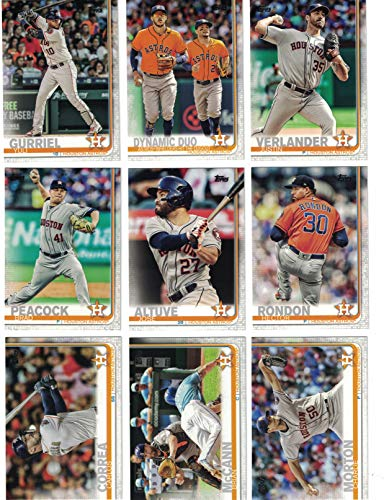 Houston Astros/Complete 2019 Topps Series 1 Baseball Team Set! (12 Cards) Includes 25 bonus Astros Cards!