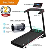 Domtie Fitness Treadmill Gym Home Electric Folding Treadmill Exercise Walking Running Equipment