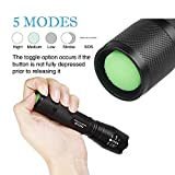 LED 1700 Lumen 18650 Flashlight with 8PCS 3.7V 3000 mAh Rechargeable Battery and Charger,Super Bright Adjustable Focus and 5 Modes