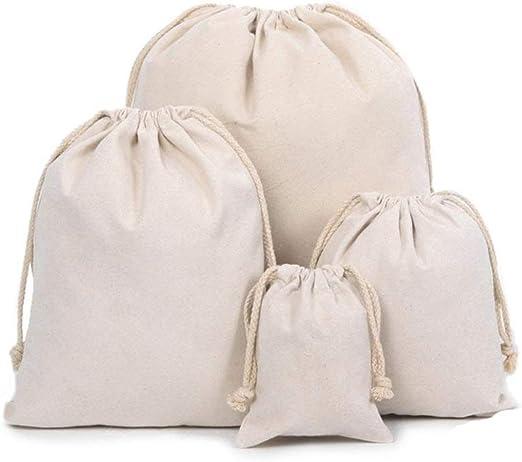 TOMYEER Bolsas de Muselina de algodón orgánico, Bolsa de Lona: Amazon.es: Hogar