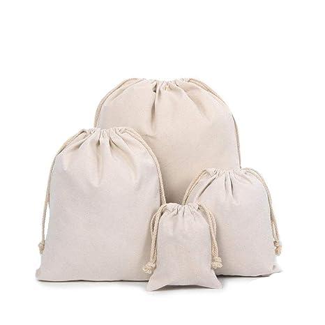 TOMYEER Bolsas de Muselina de algodón orgánico, Bolsa de ...