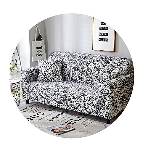 ZFADDS Stretch Universal Sofa Cover for Living Room Sofa Sectional Throw Couch Corner Cover for Furniture 1Pc,Color 6,1-Seat 90-140Cm (Outdoor Nz Furniture Covers)