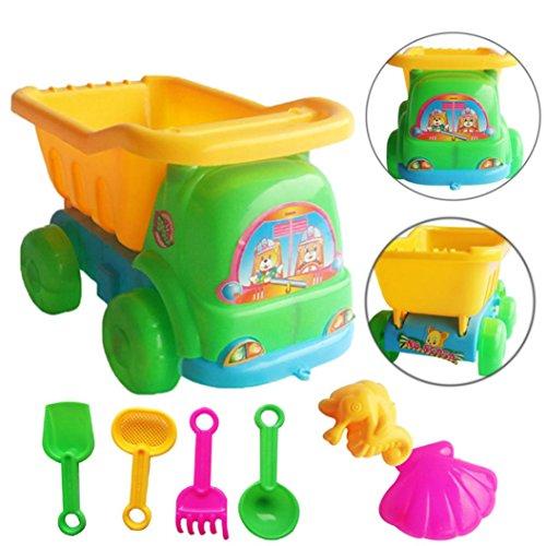7Pcs Sand Sandbeach Kids Beach Toys Trolley Bucket Spade Shovel Rake Water Tools Best Gifts for Kids - Waymine