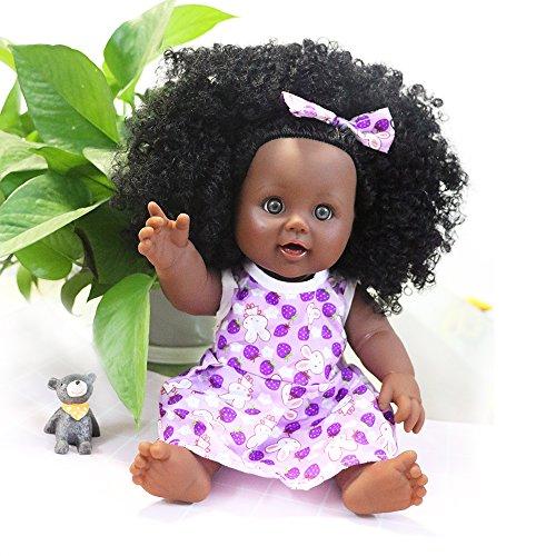 Nice2you Black Dolls African American Girl Dolls Lifelike 12 inch Fashion Play