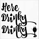 Funny Napkins - HERE DRINKY DRINKY- Boutique Cocktail Napkin, 5''X5'', Pack Of 20 Napkins For Parties And Entertaining
