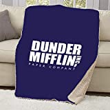 "NBC The Office Dunder Mifflin Sherpa Blanket - 37"" X 57"""