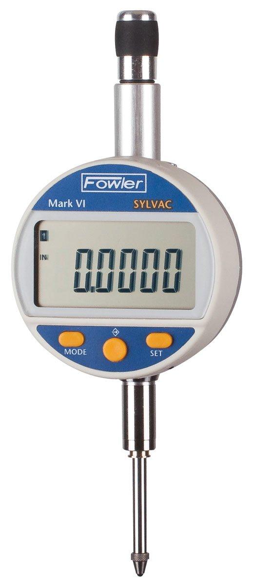 Fowler Sylvac Mark VI Electronic Indicator, 54-530-155-0, 0-1'' /0-25mm Measuring Range, 0.00005'' Resolution, 0.00012'' Accuracy