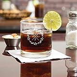 Personalized Scotch Whiskey Bourbon Glass Gift Wedding Date Monogram Logo 10.5 oz
