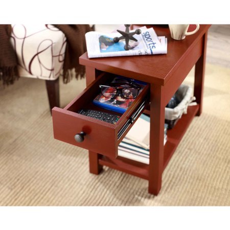 Better Homes and Gardens Oxford Square End Table- Red