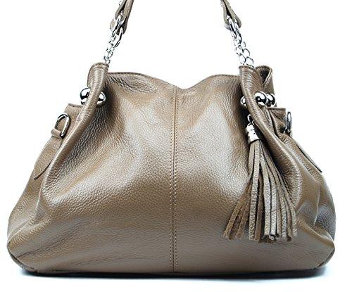 Cuir Soldes Oh À Sac My Main Madison Bag Fonce Taupe aHXgwO