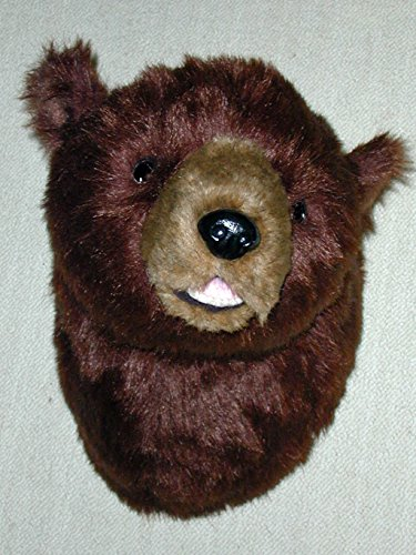 "Plush Bear Head""Major"" Large Brown Bear Trophy Mount made in Maine"