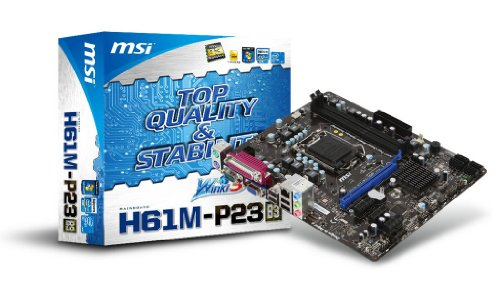 Photo - MSI LGA1155/Intel H61 B3/DDR3/A&GbE/MATX Motherboard H61M-P23 (B3)