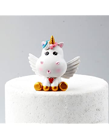 Gold Unicorn Cake Topper Set Included Horn Ears And Eyelash