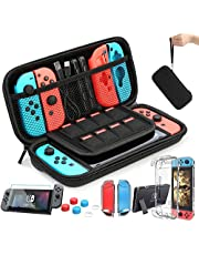Case Compatible with Nintendo Switch Carry Case 9 in 1 Pouch Switch Cover Case HD Switch Screen Protector Thumb Grips Caps for Nintendo Switch Console Accessories