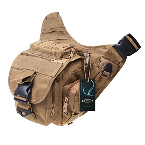 G4Free Multi-functional Tactical Messenger Bag Utility Pouch Versipack (Earth) (Tactical Camera)
