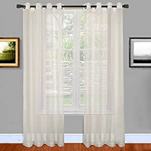 amazon com warm home designs bright white sheer window