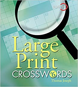photo relating to Printable Thomas Joseph Crossword Puzzle for Today referred to as Major Print Crosswords #6: Thomas Joseph: 9781402734038
