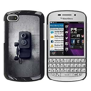 Paccase / SLIM PC / Aliminium Casa Carcasa Funda Case Cover para - Old School Vintage Black White - BlackBerry Q10