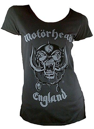Motörhead per Band shirt s donna modello grigio Rock Logo Amplified T l wA7X5qBx7