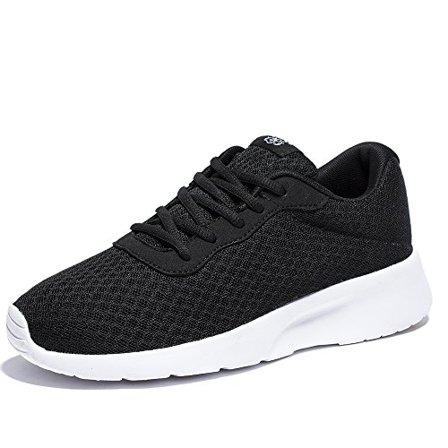 NewDenBer Women's Fashion Sneakers Ultra Lightweight Breathable Athletic Sport Running Shoe (5.5 B(M) US, Black)