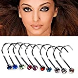 Hosaire 30pcs/set Stainless Steel Nose Ring Nose
