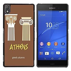 Dragon Case - FOR Sony Xperia Z3 - the greek columns - Caja protectora de pl??stico duro de la cubierta Dise?¡Ào Slim Fit